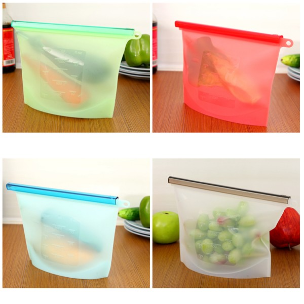 Recyclable Sealed Reusable Silicone Food Bag, Meat Used